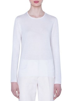Akris Seamless Fine-Gauge Cashmere-Silk Sweater