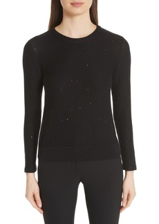 Akris Sequin Knit Silk & Cotton Blend Sweater