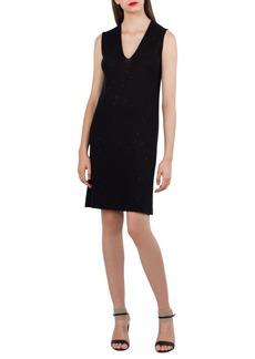 Akris Sequin Knit Silk & Cotton Dress
