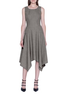Akris Sharkbite Hem Sleeveless Wool Dress