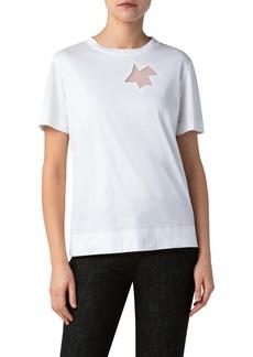 Akris Sheer Inset Jersey T-Shirt