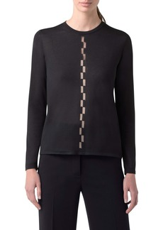 Akris Sheer Intarsia Cashmere & Silk Blend Sweater