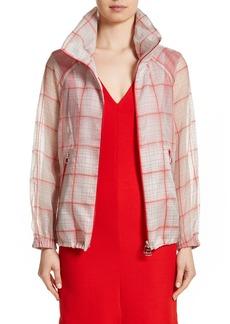 Akris Silk Blend Organza Check Print Jacket