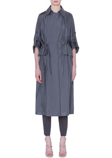Akris Silk Taffeta Coat