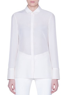 Akris Silk Button-Front Shirt