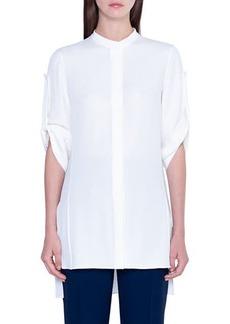 Akris Silk Button-Front Tunic