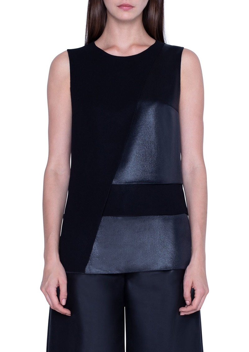 Akris Silk Layered Sleeveless Top