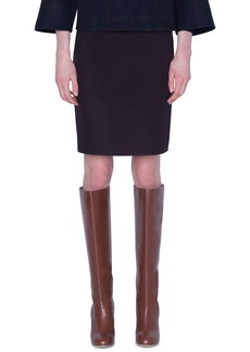 Akris Silk Slim Knee-Length Skirt