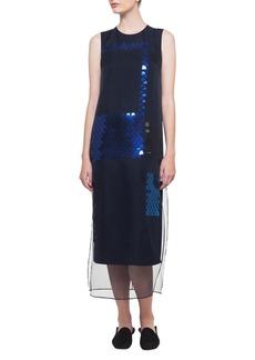 Akris Sleeveless Ai Sequined Organza Dress