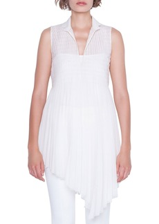 Akris Sleeveless Babydoll V-Neck Blouse