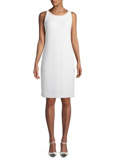 Akris Sleeveless Basketweave Sheath Dress