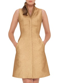 Akris Sleeveless Coat Dress w/Back A-Cutout