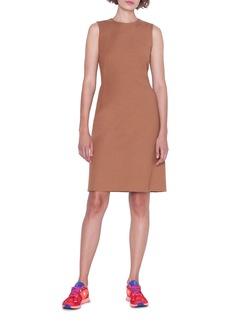 Akris Sleeveless Cotton-Silk Crepe Dress