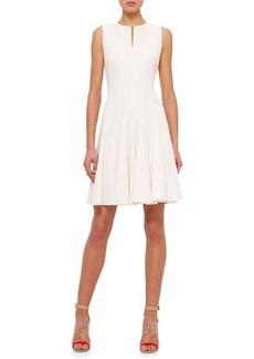 Akris Sleeveless Fit-&-Flare Zip Dress