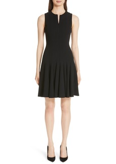 Akris Sleeveless Godet Pleat Dress