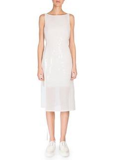 Akris Sleeveless Grid-Print Dress