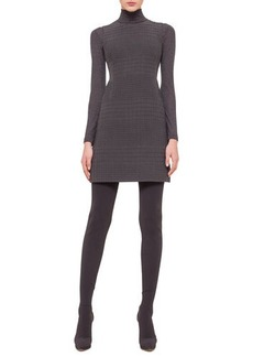 Akris Sleeveless Jewel-Neck Cross-Stitch Dress