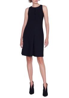 Akris Sleeveless Magic-Stone Embellished A-Line Dress