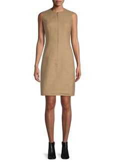 Akris Sleeveless Zip-Front Shift Dress