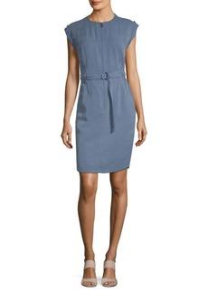 Akris Slim Belted Dress