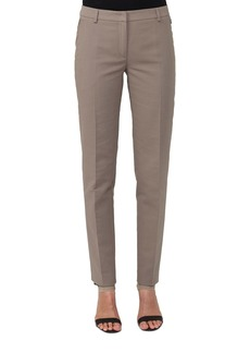 Akris Slim Straight-Leg Double-Face Cotton-Silk Pants