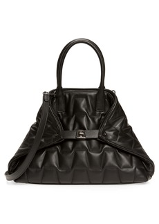 Akris Small AI Quilted Trapezoid Leather Tote