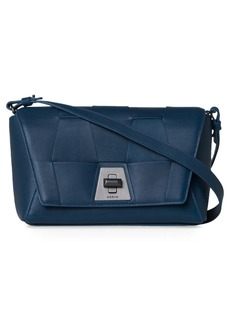 Akris Small Anouk Braided Trapezoid Leather Crossbody Bag