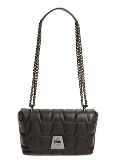 Akris Small Anouk Quilted Trapezoid Leather Shoulder Bag
