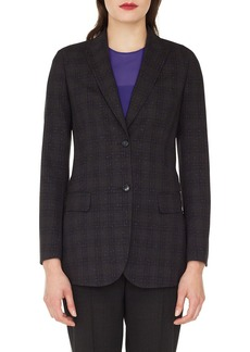 Akris Speckled Wool Tweed Blazer