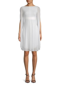 Akris Split-Sleeve A-Line Dress