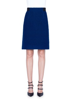 Akris St. Gallen Embroidered A-Line Skirt