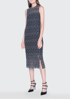 Akris St. Gallen Embroidered Lace Sleeveless Dress