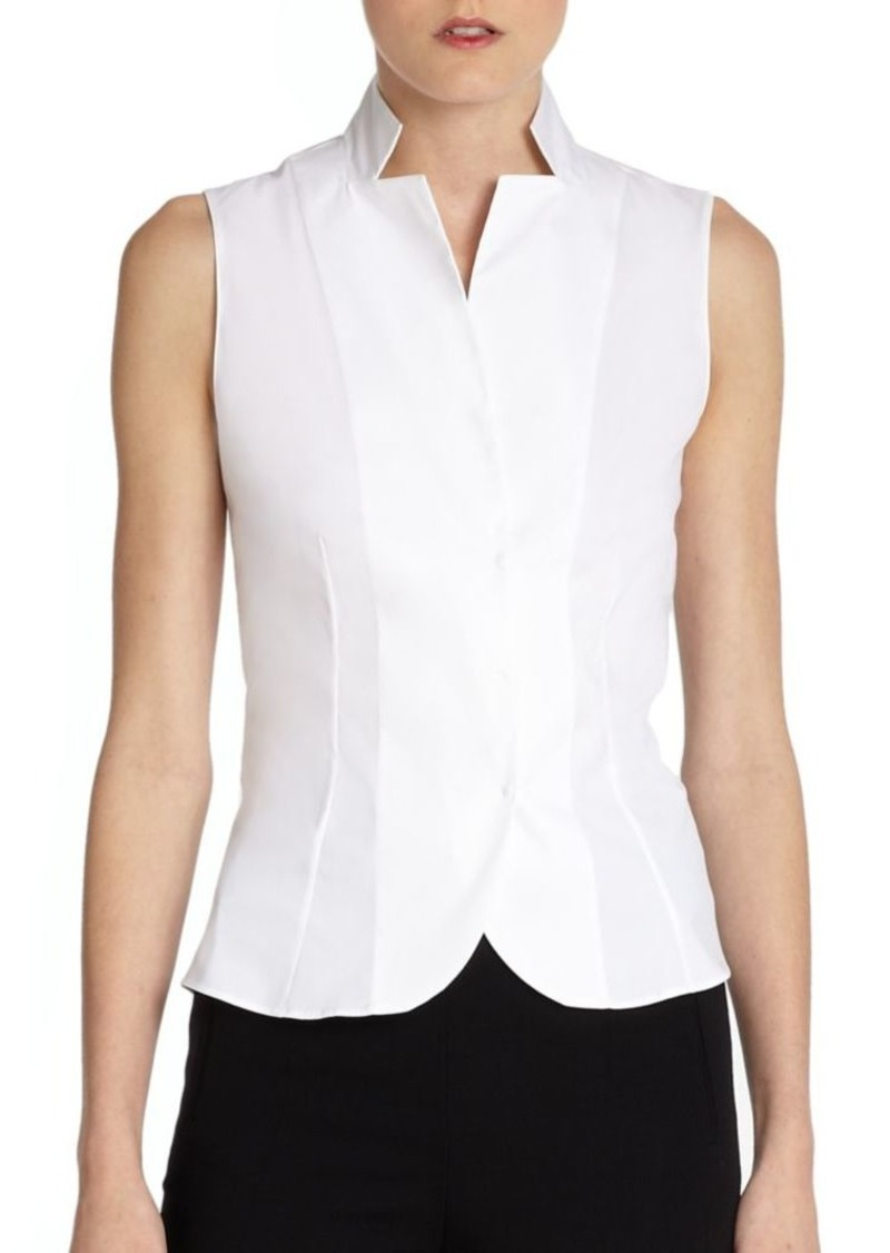 Akris Stand Collar Blouse