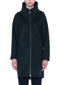Akris Stowaway Hood Double Face Cashmere Coat
