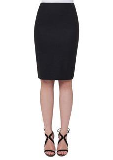Akris Stretch-Flannel Pencil Skirt