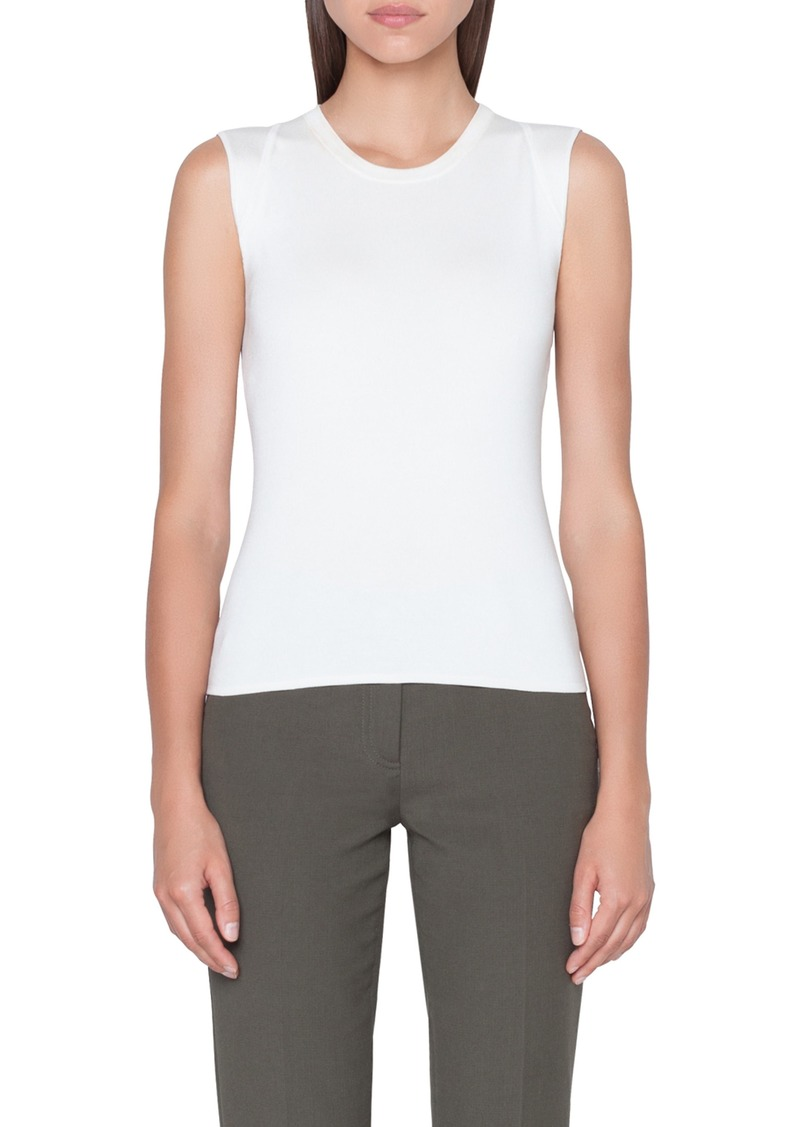 Akris Stretch Silk Knit Shell