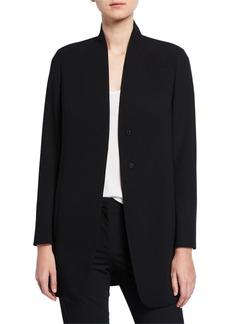 Akris Stretch Wool Collarless Blazer Jacket