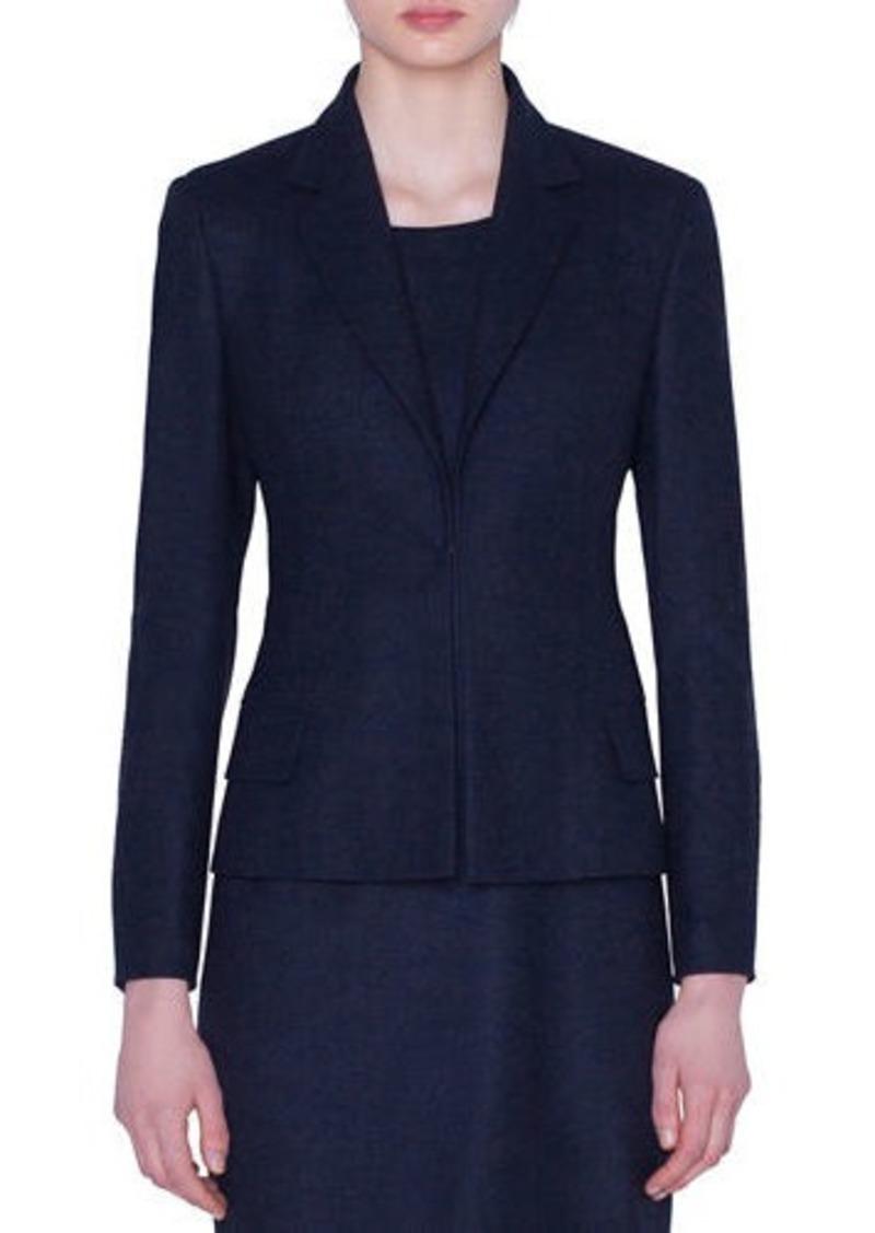 Akris Stretch Wool Hook-Front Jacket