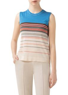 Akris Stripe Cashmere & Silk Sweater Tank