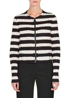 Akris Stripe Wool Blend Jacket