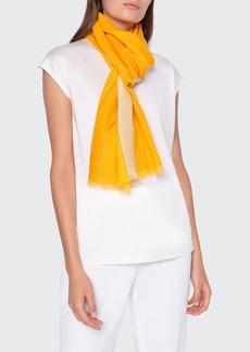 Akris Striped Cashmere Silk Scarf