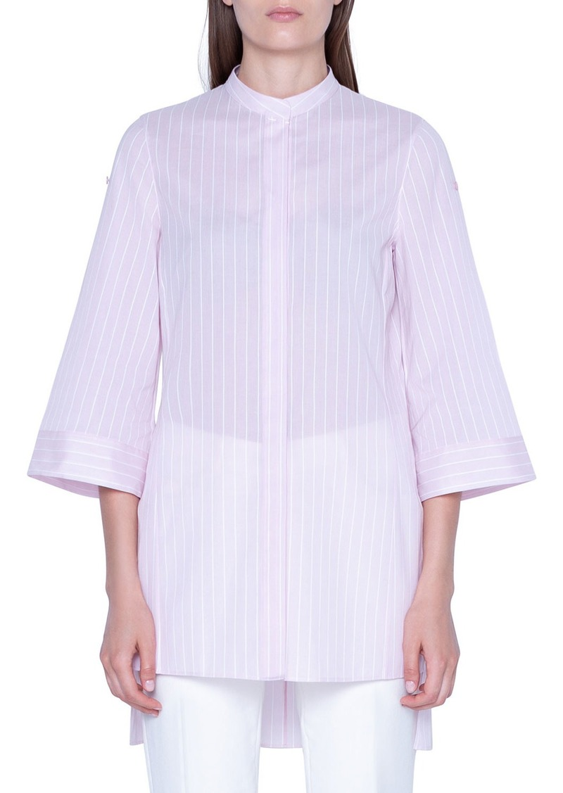 Akris Striped Wide 3/4-Sleeve Tunic