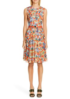 Akris Summer Print Cotton Voile Dress