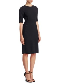 Akris Elbow Sleeve Sheath Dress