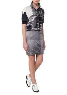 Akris Three Women Short-Sleeve Silk Polo Dress