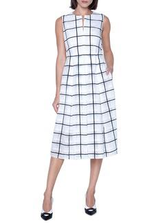 Akris Tonal Check Midi Dress
