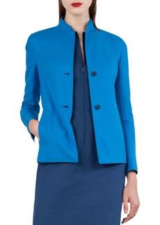 Akris Two-Button Bicolor Reversible Jacket