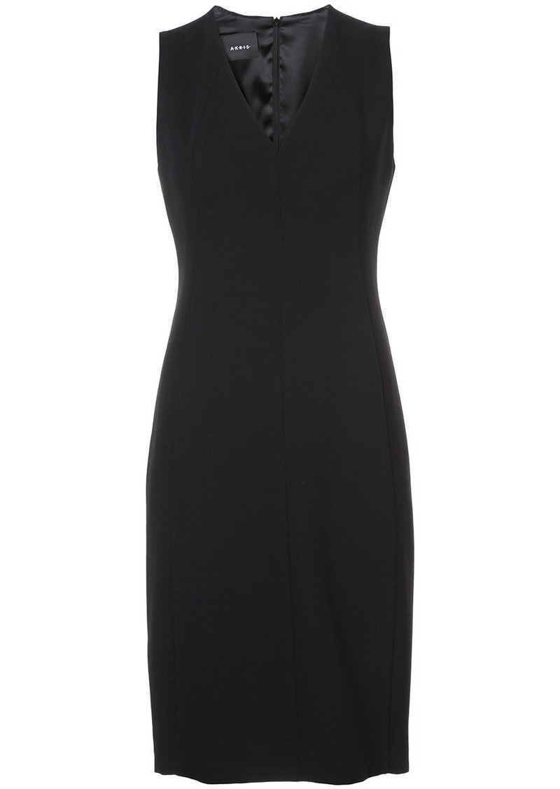 Akris V-neck pleat detail dress