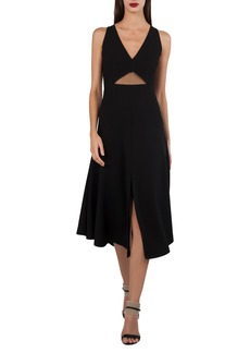 Akris V-Neck Sleeveless Cutout-Waist Techno-Stretch Dress