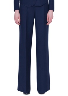 Akris Wide-Leg Double-Face Wool Pants